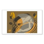Abstract Coffee Shop Rectangle Sticker