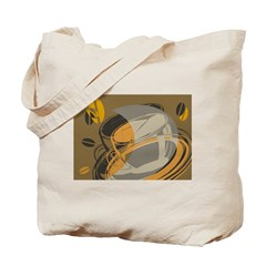Abstract Coffee Shop Tote Bag
