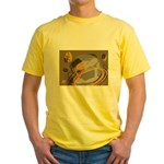 Abstract Coffee Shop Yellow T-Shirt