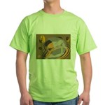 Abstract Coffee Shop Green T-Shirt
