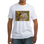 Abstract Coffee Shop Fitted T-Shirt