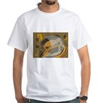 Abstract Coffee Shop White T-Shirt