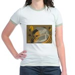 Abstract Coffee Shop Jr. Ringer T-Shirt