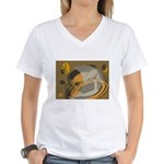 Abstract Coffee Shop Women's V-Neck T-Shirt
