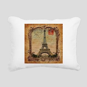 vintage scripts postage Rectangular Canvas Pillow