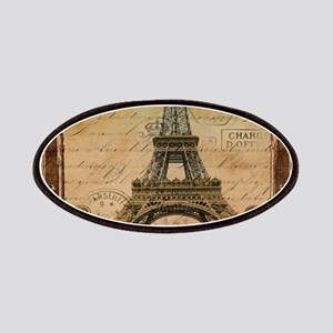 vintage scripts postage paris eiffel tower Patches
