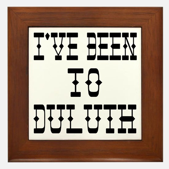 I've Been to Duluth Framed Tile