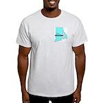 True Blue Rhode Island LIBERAL Ash Grey T-Shirt
