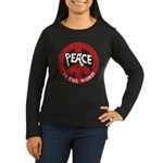 Peace is the word Women's Long Sleeve Dark T-Shirt