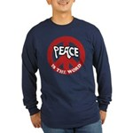 Peace is the word Long Sleeve Dark T-Shirt