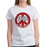 Peace is the word Women's T-Shirt