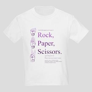 Rock Paper Scissors Kids Light T-Shirt