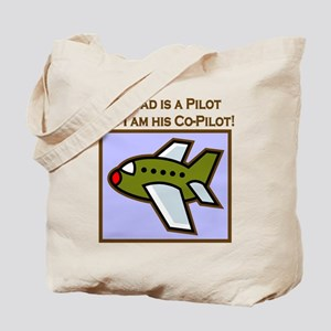 Grandpa's Co-Pilot Airplane Tote Bag