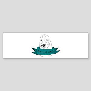 Hound Dog Bumper Sticker