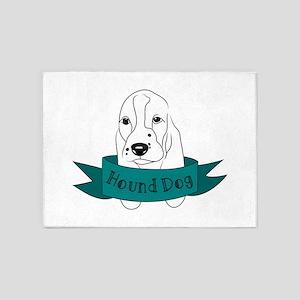 Hound Dog 5'x7'Area Rug