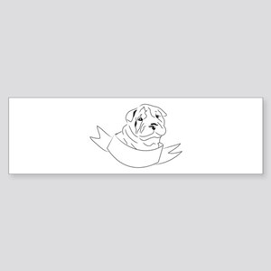 Shar Pei Head Bumper Sticker