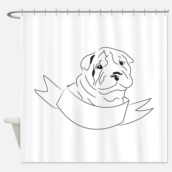 Shar Pei Head Shower Curtain