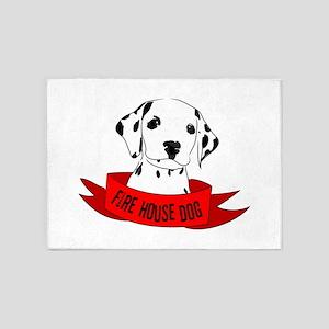 Fire House Dog 5'x7'Area Rug