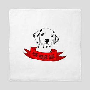 Fire House Dog Queen Duvet