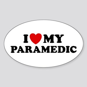 I Love My Paramedic Oval Sticker