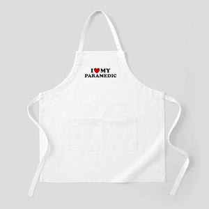 I Love My Paramedic BBQ Apron