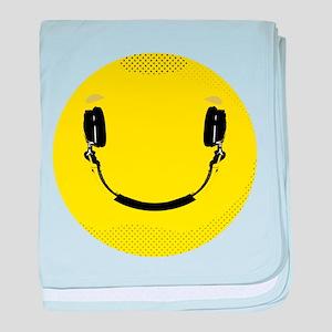 Smiley baby blanket