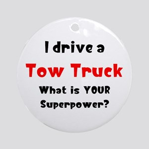 tow truck Round Ornament