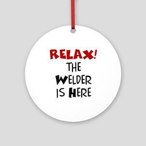 welder here Ornament (Round)