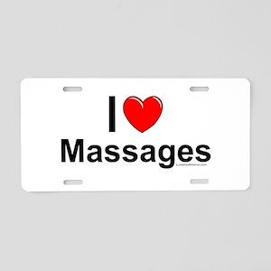 Massages Aluminum License Plate