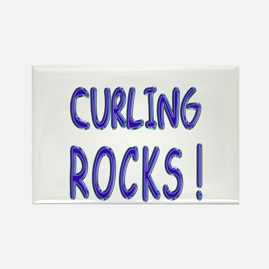 Curling Rocks ! Rectangle Magnet