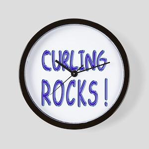 Curling Rocks ! Wall Clock