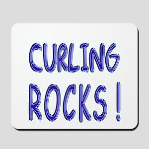 Curling Rocks ! Mousepad