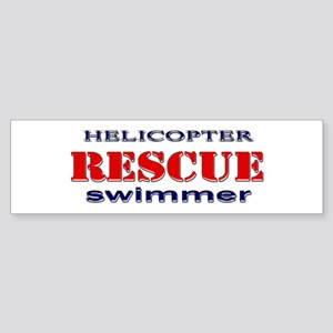 Helicopter Rescue Swimmer Bumper Sticker