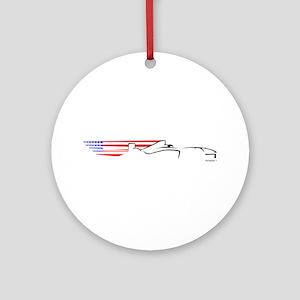 Formula 1 USA Ornament (Round)