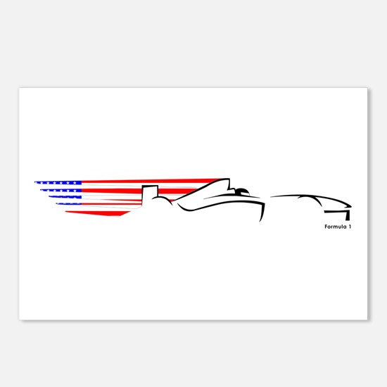 Formula 1 USA Postcards (Package of 8)