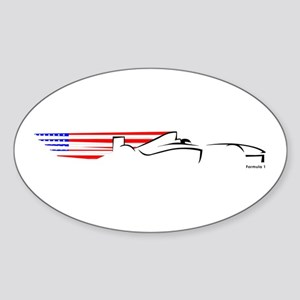 Formula 1 USA Oval Sticker