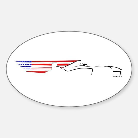 Formula 1 USA Oval Decal