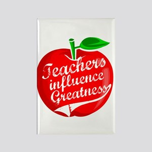 Teachers Influence Greatness Rectangle Magnet