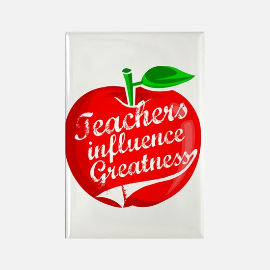 Teachers Influence Greatness Rectangle Magnet