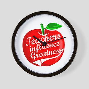 Teachers Influence Greatness Wall Clock