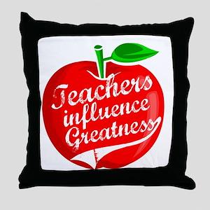Teachers Influence Greatness Throw Pillow