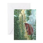 Red Canoe Note Cards