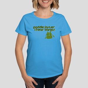 Banjos Paddle Faster Women's Dark T-Shirt