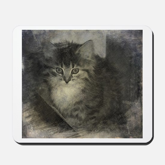 Kitten in the Shadows Mousepad