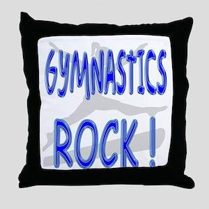 Gymnastics Rock ! Throw Pillow