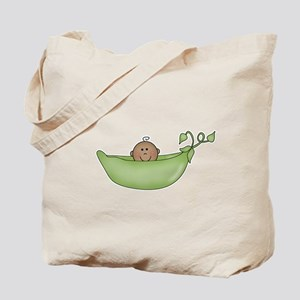 Pea in a Pod (Ethnic)Tote Bag
