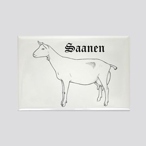 Saanen Dairy Goat Magnets