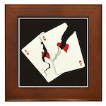 Cracked Aces Framed Tile