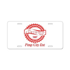 PCE RED Certified Aluminum License Plate
