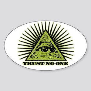 Trust No One (vintage distressed look) Sticker